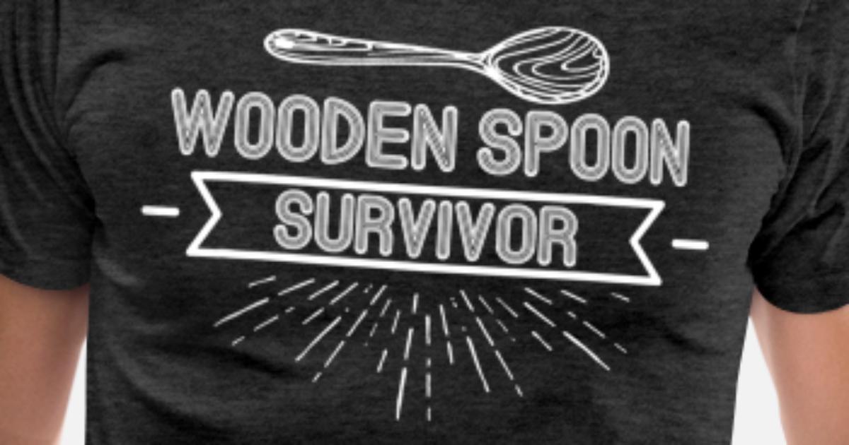 Wooden Spoon Survivor Funny Prank Hilarious Game Mens Premium T