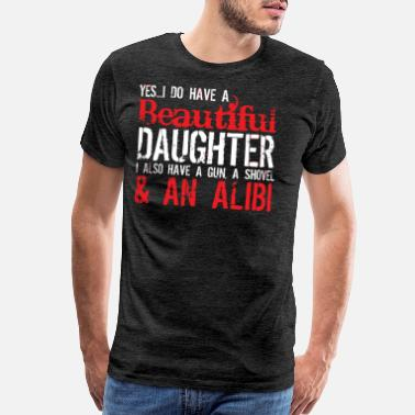 Couples With Guns GUN ALIBI - Men's Premium T-Shirt