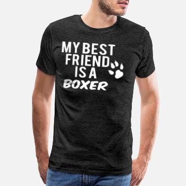 Ring My best Frind is a Boxer white - Men's Premium T-Shirt