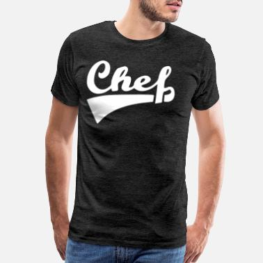 The Boss Man chef front white - Men's Premium T-Shirt