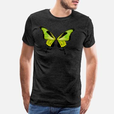 Blue Butterfly Butterfly Gift Shirt Brown Green Exotic Animal - Men's Premium T-Shirt