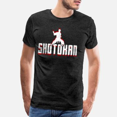 Stance Fight stance Shotokan design in red and white - Men's Premium T-Shirt