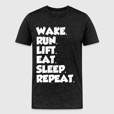 GYM LIFESTYLE REPEATING - Men's Premium T-Shirt