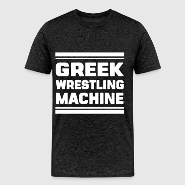 Greek wrestling - Greek wrestling machine - Men's Premium T-Shirt