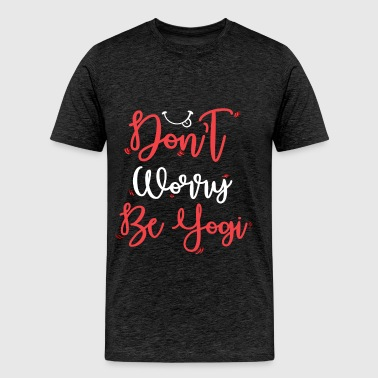 Yogi - Don't worry be yogi - Men's Premium T-Shirt