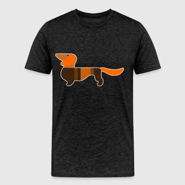 Dachshund Profile - Men's Premium T-Shirt