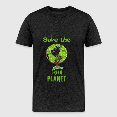Green planet - Save the green planet. - Men's Premium T-Shirt