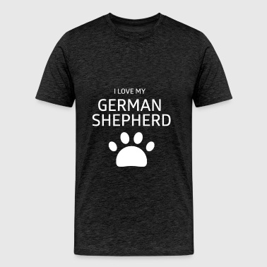 German Shepherd - I love my German Shepherd  - Men's Premium T-Shirt