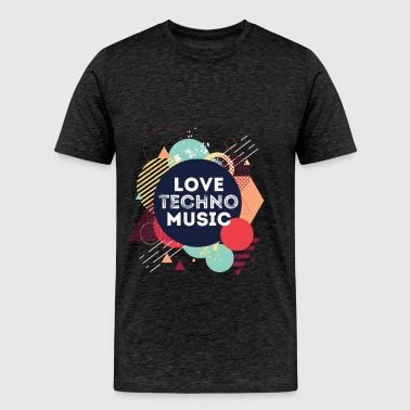 Techno  - Love techno music - Men's Premium T-Shirt