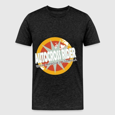 Autocross Rider - Autocross Rider with improved fo - Men's Premium T-Shirt