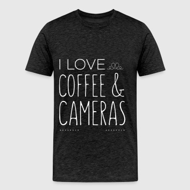 Cameras - I love coffee and Cameras - Men's Premium T-Shirt