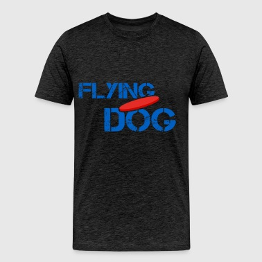 Disc dog - Flying dog - Men's Premium T-Shirt