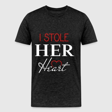 Newlyweds - I stole her heart - Men's Premium T-Shirt