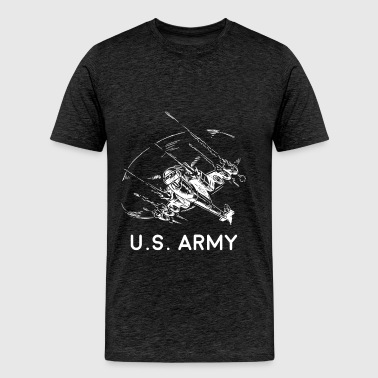 Army Helicopter - U.S. Army - Men's Premium T-Shirt