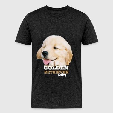 Golden retriever - Golden retriever baby - Men's Premium T-Shirt