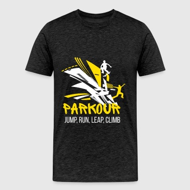 Parkour - Jump, run, leap, climb - Men's Premium T-Shirt