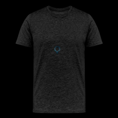 blue retro rusted grunge icon symbols shape - Men's Premium T-Shirt
