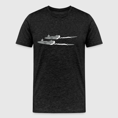 2 fleet shelling torpedo rocket launching military - Men's Premium T-Shirt