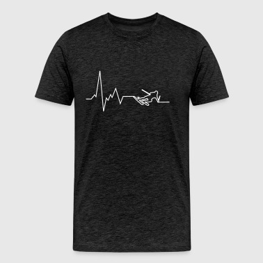heartbeat downhill ski - Men's Premium T-Shirt