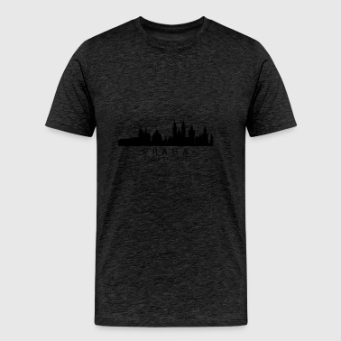 Praha Prague Czech Republic Skyline - Men's Premium T-Shirt