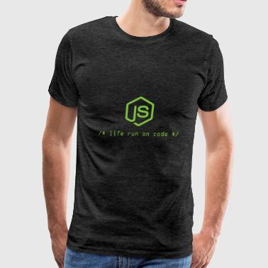 Life run on code - Gift for Node.js Programmer - Men's Premium T-Shirt