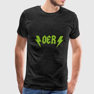 OER Rocks (Green) - Men's Premium T-Shirt