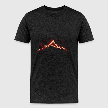 Mountains month sun child drawing vector drawing - Men's Premium T-Shirt