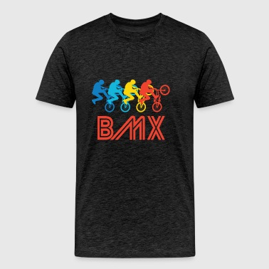 Retro BMX Pop Art - Men's Premium T-Shirt