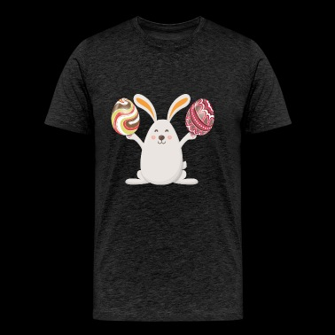 Bunny Happy Easter Eggs - Men's Premium T-Shirt