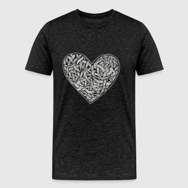 heart tattoo graphic illustration interlacing - Men's Premium T-Shirt