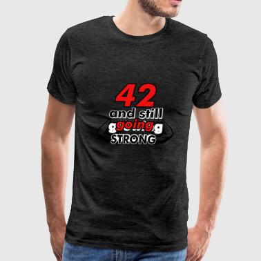 42 bithday design - Men's Premium T-Shirt