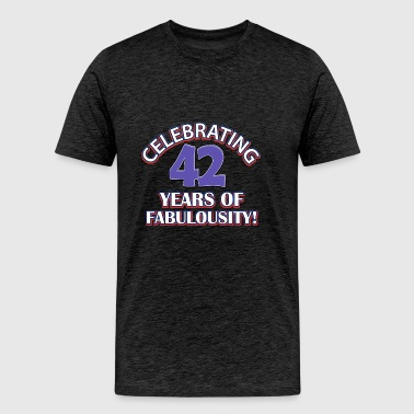 42nd year birthday designs - Men's Premium T-Shirt