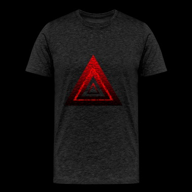 Red Ruby Rose Pyramid - Men's Premium T-Shirt