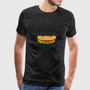 The Meaning of Life (Fast Food) - Men's Premium T-Shirt