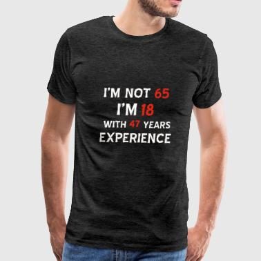 65th birthday designs - Men's Premium T-Shirt