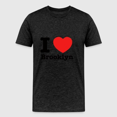 I love Brooklyn designs - Men's Premium T-Shirt