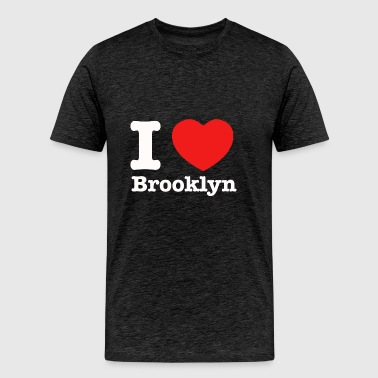 I love Brooklyn New York - Men's Premium T-Shirt