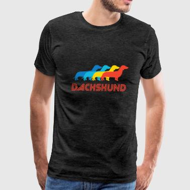 Dachshund Pop Art - Men's Premium T-Shirt