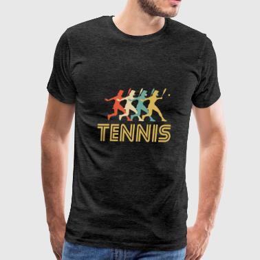 Tennis Player Pop Art - Men's Premium T-Shirt