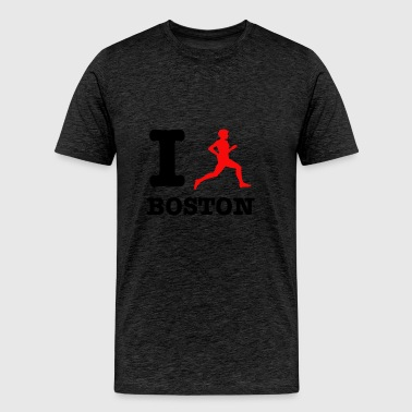 I run boston design - Men's Premium T-Shirt