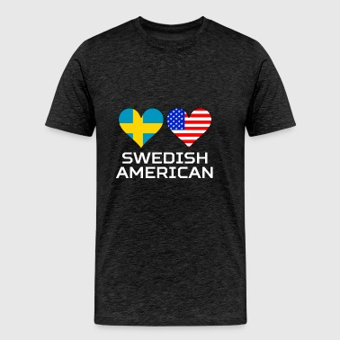Swedish American Hearts - Men's Premium T-Shirt