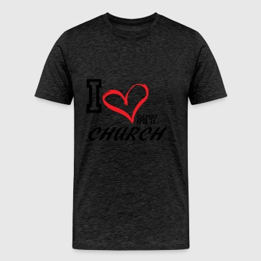 I_LOVE_MY_CHURCH - PLUS SIZE FIT - Men's Premium T-Shirt