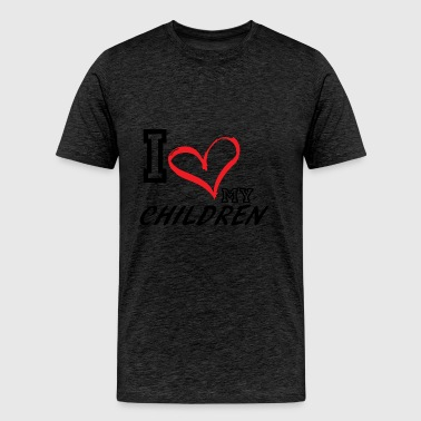 I_LOVE_MY_CHILDREN - PLUS SIZE FIT - Men's Premium T-Shirt