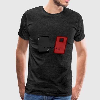 Phone and Case: together through thick and thin - Men's Premium T-Shirt