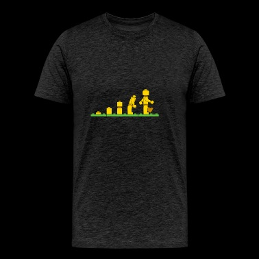 Lego Man Evolution - Men's Premium T-Shirt