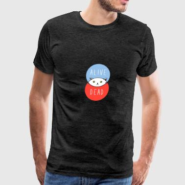 Where Schr dinger Venn Overlap - Men's Premium T-Shirt