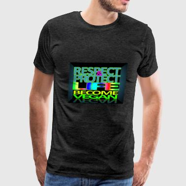 respect protect - Men's Premium T-Shirt