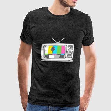Watching TV - Men's Premium T-Shirt