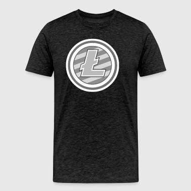 HD Litecoin 01 Official Logo Litecoin - Men's Premium T-Shirt