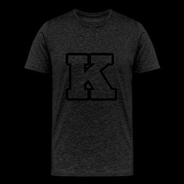 K from alphabet 1 - Men's Premium T-Shirt